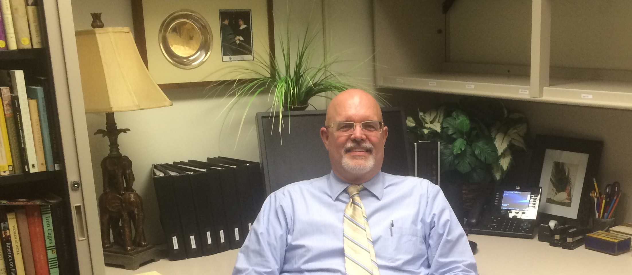 Dr. Berg sitting in his office on 23 June 2016.