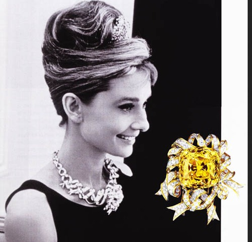 """e82cf9bd4 Audrey Hepburn wore the Tiffany diamond while promoting """"Breakfast at  Tiffany's"""" (1961). On 18 September 1837, Charles Lewis Tiffany and Teddy Young  opened ..."""